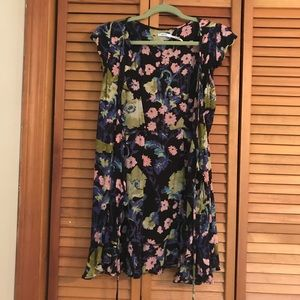 Urban Outfitters, Sheer floral tie-front coverup